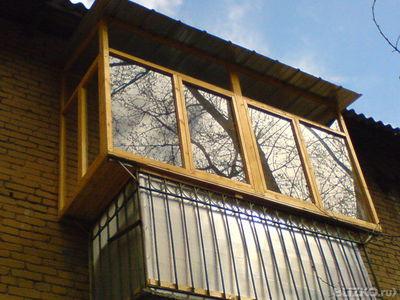 Деревянное остекление балконов и лоджий.