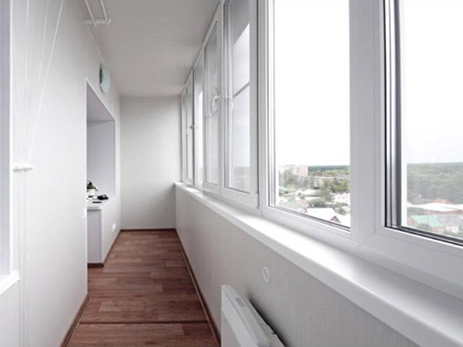 Отделка балкона.